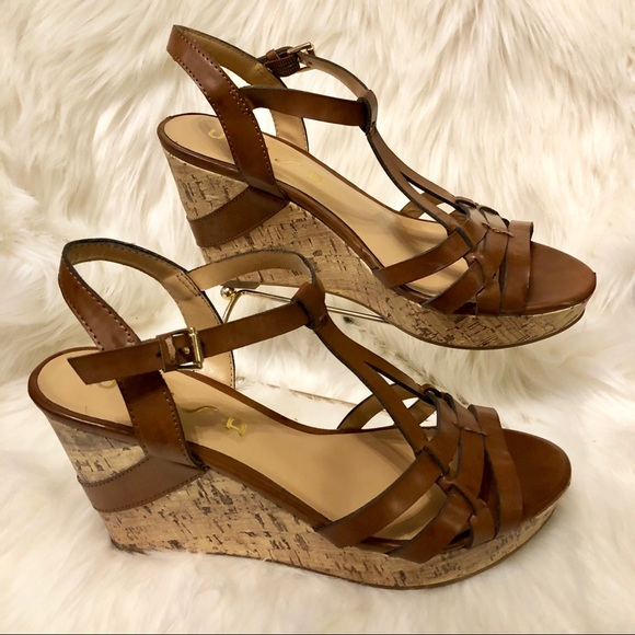 b758c27a068 Unisa Shoes -  Unisa  Brown   Cork Wedge Sandals